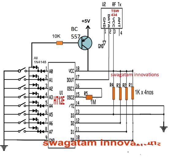 433 Mhz Rf 8 Appliances Receiver Circuit Circuit Projects Electronic Circuit Projects Circuit