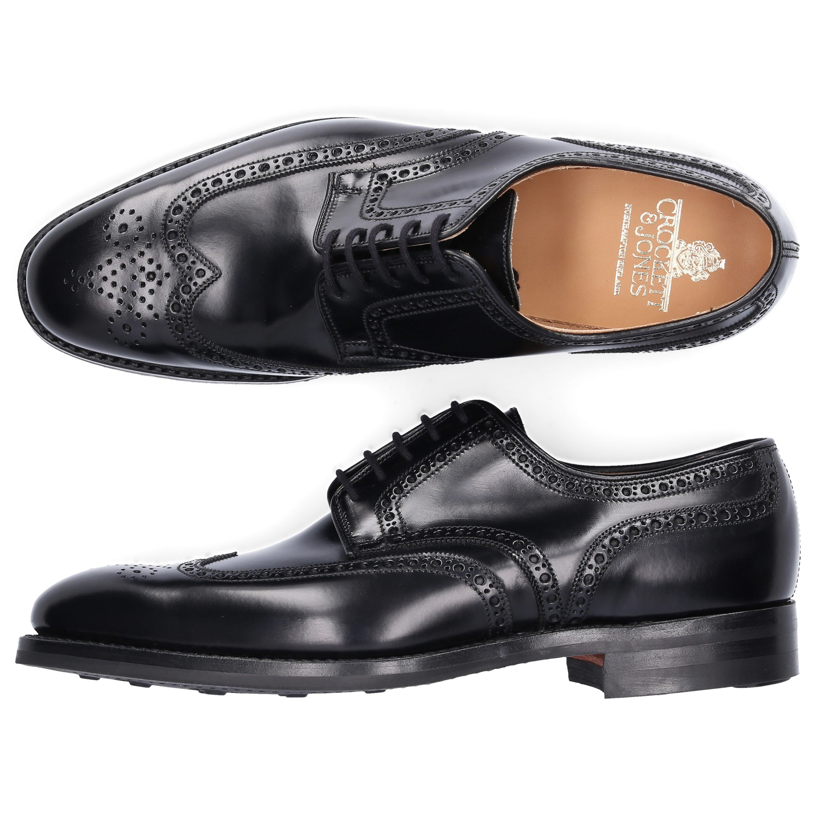 Crockett Jones Derby Trafford Calfskin Hole Pattern Black Crockettjones Shoes Mens Business Shoes Business Shoes Dress Shoes Men [ 2700 x 2700 Pixel ]