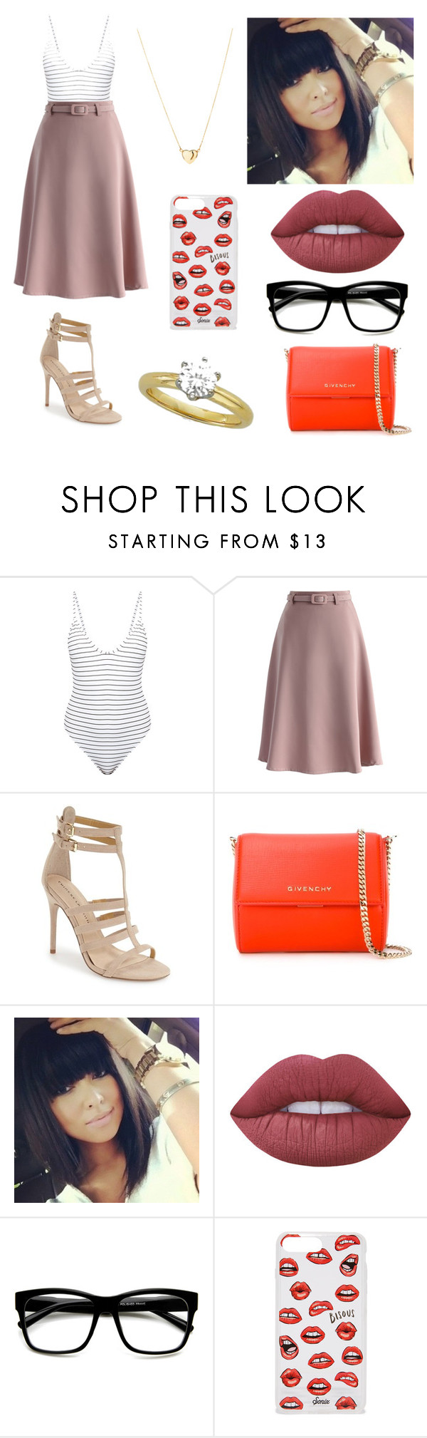 """""""Sem título #1072"""" by mahceinha ❤ liked on Polyvore featuring Bower, Chicwish, Chinese Laundry, Givenchy, Lime Crime, ZeroUV and Sonix"""