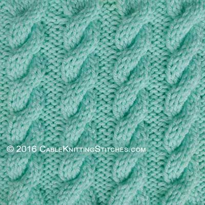 Cable Knitting Stitches 3 3 Right Cross Cable 3 Back Cable