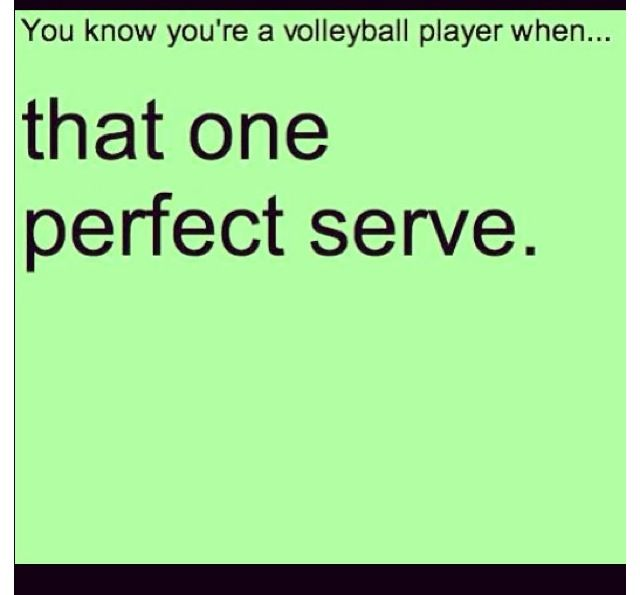 Not really a problem... and I got an ace today in practice while playing against my coach in a drill because she shanked the ball!!