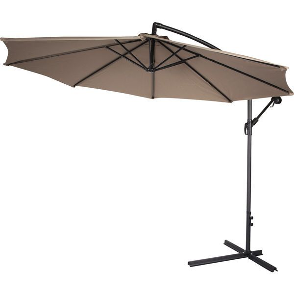 Offset Patio Umbrella Tan 10 Foot Deck Patio Pool Over Table Backyard Shade  New #TrademarkInnovations