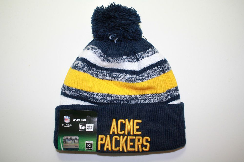 7c16516c8e6915 Green Bay Packers 2018 New Era Knit Hat Sideline Beanie Official Cap. Packers  hat - warm and with attractive colors.