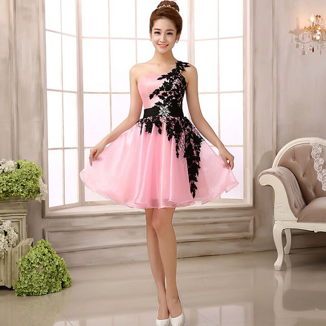 vestido corto negro y rosa - Buscar con Google