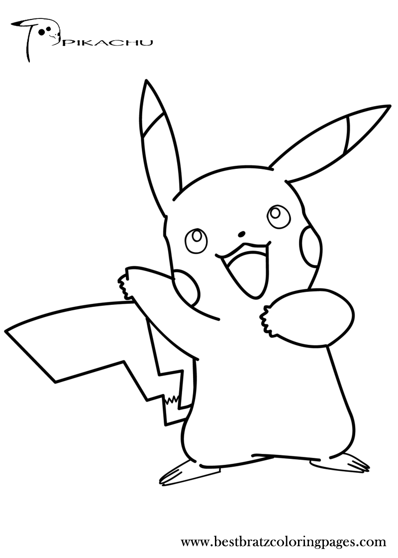 Free Printable Pikachu Coloring Pages For Kids | Horse ...