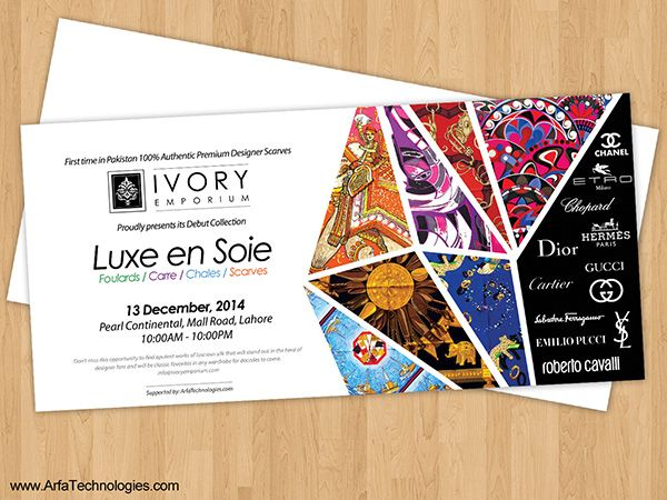 Ivory emporium fashion scarf event invitation card designg 600 invitation card event 7 corporate invitation cards editable psd ai vector eps invitation card printing event management singapore sample invitation card stopboris Gallery