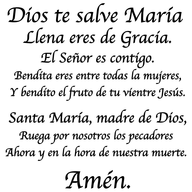 Dios Te Salve Maria Hail Mary In Spanish