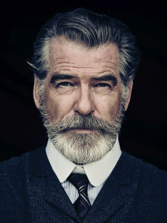 Photo of Pierce Brosnan Jokes His Wife Is 'Very Fond' of the Beard He Grew for 'The Son'