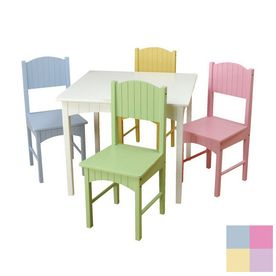 8ca095bcc01 KidKraft Nantucket Pastel Square Kid s Play Table Kids Table Chair Set