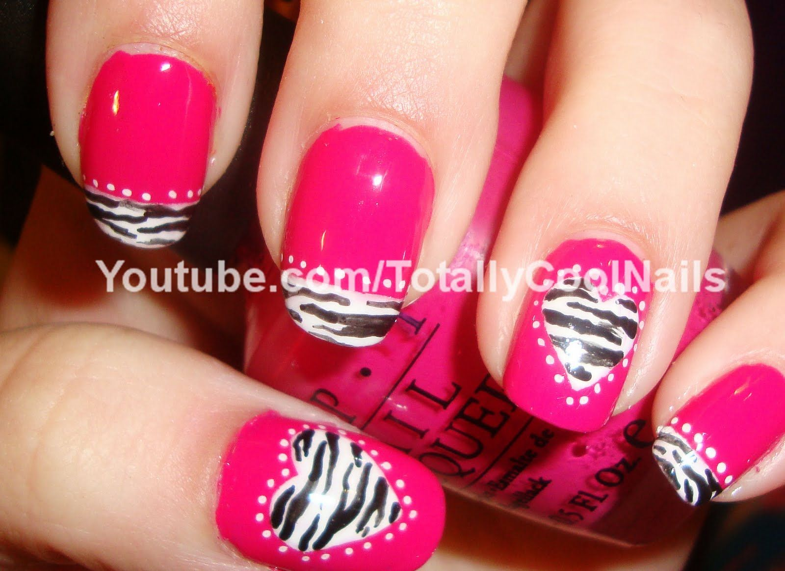 Pretty Nails Would Go With A Hot Pink Mani Because The Colours Are