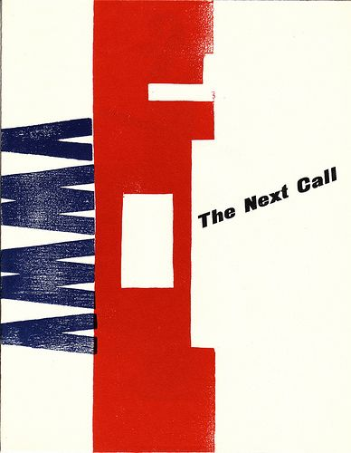 annees 20 au pays bas  H N Werkman, The Next Call (revue) travail sur la forme imprimente