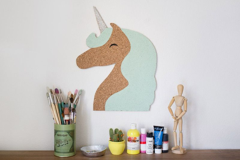 Memoboard Kinderzimmer ~ Einhorn kork pinnwand memoboard farbauswahl unicorns unique