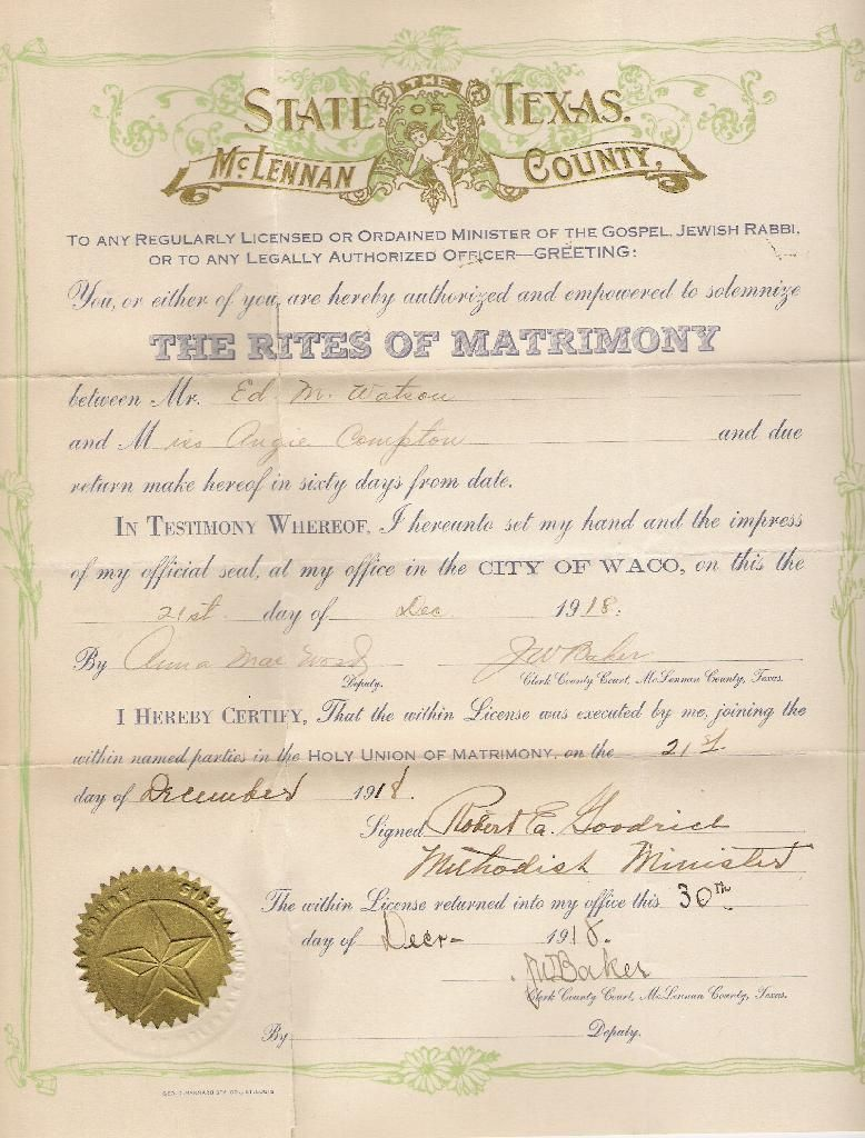 State Of Texas Marriage License Requirements I Each Applicant Must Present One Of The Following Forms Of Id Wedding Officiant Wedding License Marriage License