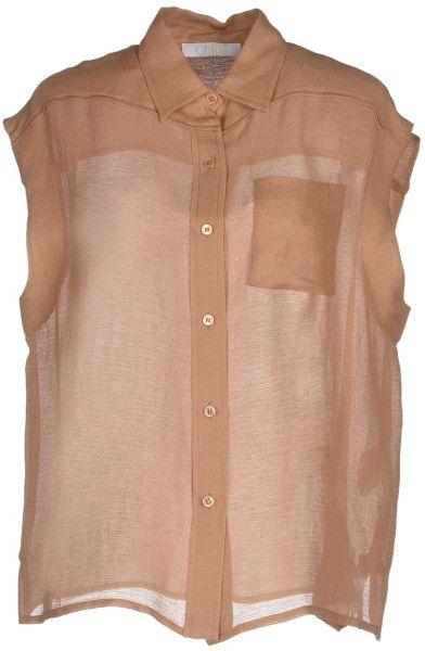 d5e14429f4f2ed Women's Brown Shirt | Chloe | Chloe brown, Shirts, Chloe