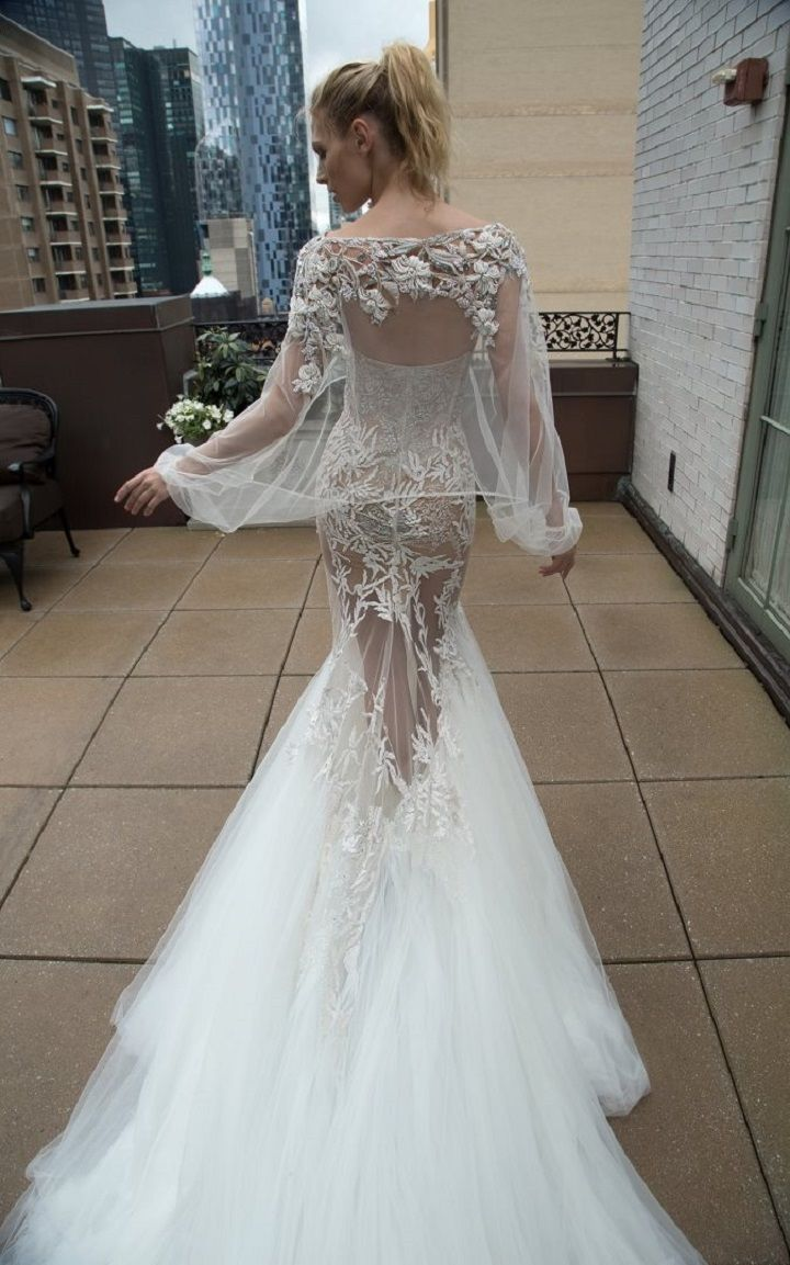 Inbal Dror 2016 Wedding Dresses -  Mermaid long sleeves wedding dress | itakeyou.co.uk #weddingdress #weddindresses #bridalgown #weddinggown