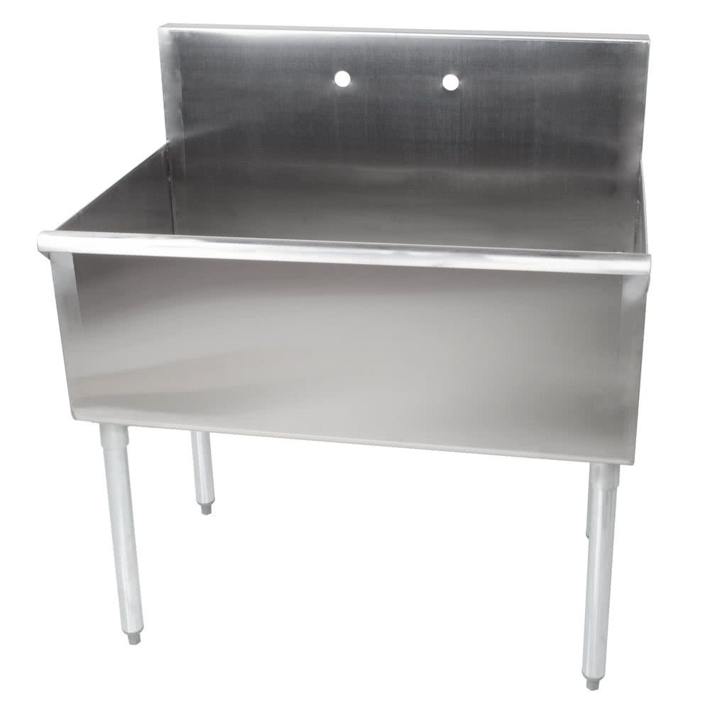 Regency 36 16 Gauge Stainless Steel One Compartment Commercial