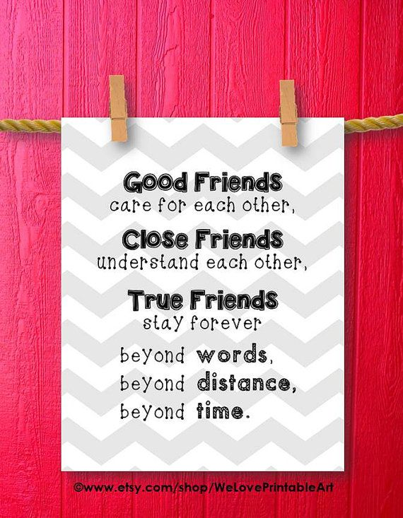 Gifts For Best Friends Friend Gift Friendship Art Print Framed Quotes Printable Sign
