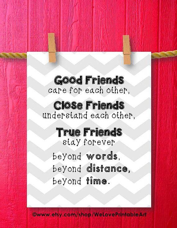 Friendship Distance Friendship Quote Best Gift Best