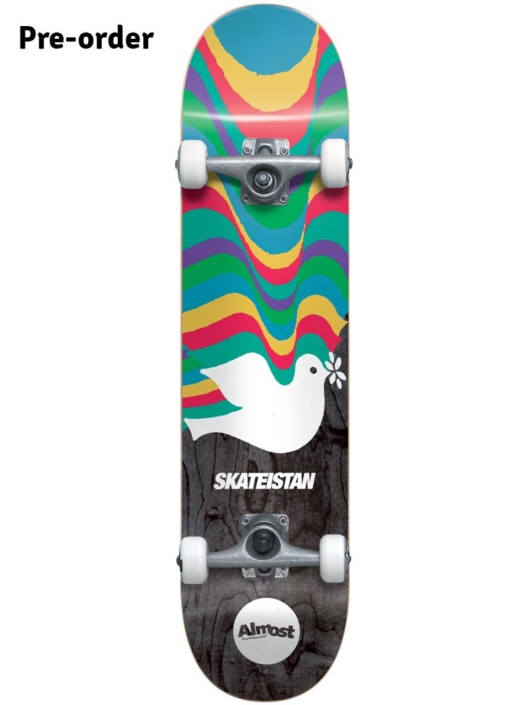 Almost Skateistan Dove 7 5 First Push Complete Skateboard Mini Pre Order Complete Skateboards Almost Skateboards Skateboard