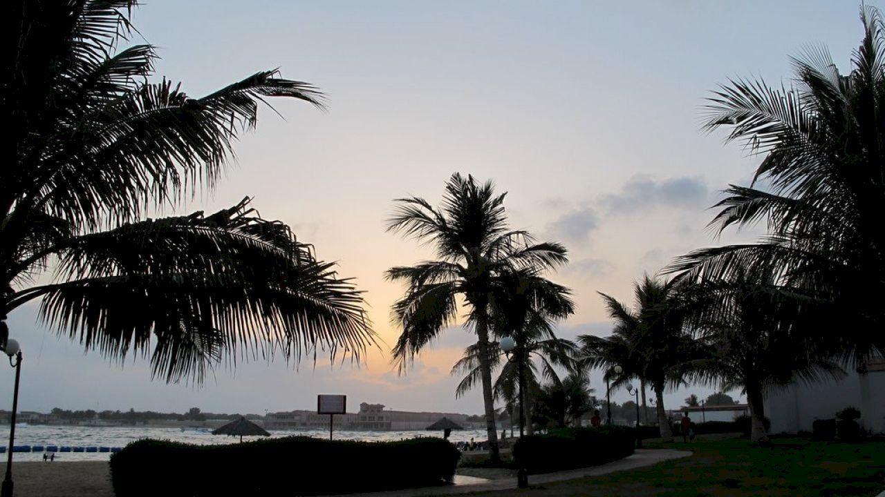 شاطئ الغروب بالخبر Beach Beach Sunset Outdoor