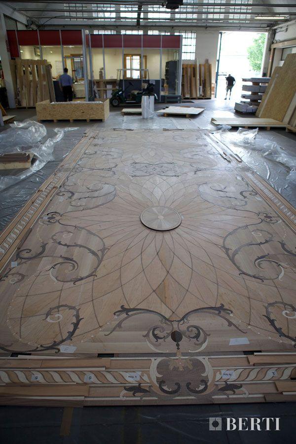 Berti wood flooring work in progress laser inlays for Berti parquet