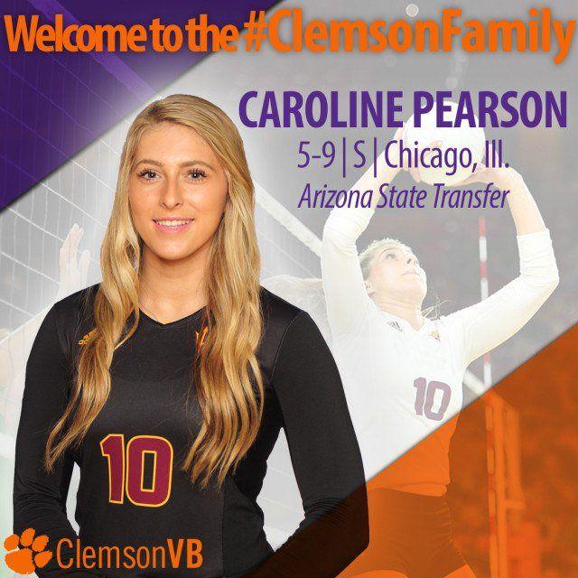 Caroline Pearson Transfers From Arizona State To Clemson Arizona State Clemson Volleyball News
