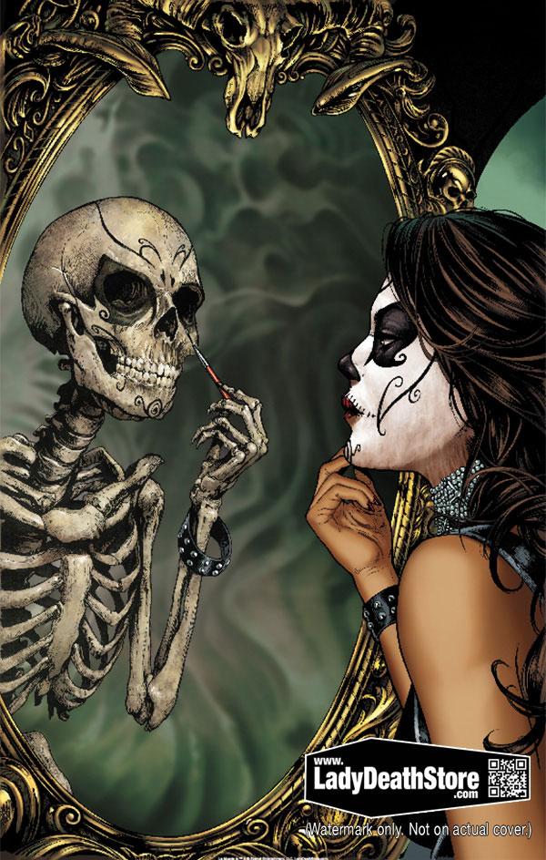 """La Muerta Mirror 11x17"""" Print W.B."""