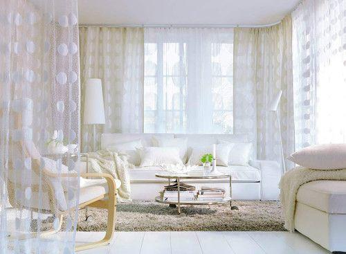 Ikea Ninni Figur Pair Of Curtains 2 Panels White Sheer