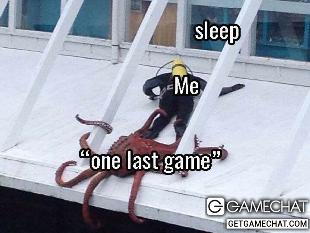 Every night, Me, Sleep and one last game Gaming