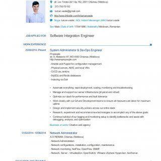 Curriculum Vitae Personal Information Vasile Turcan Str Lev