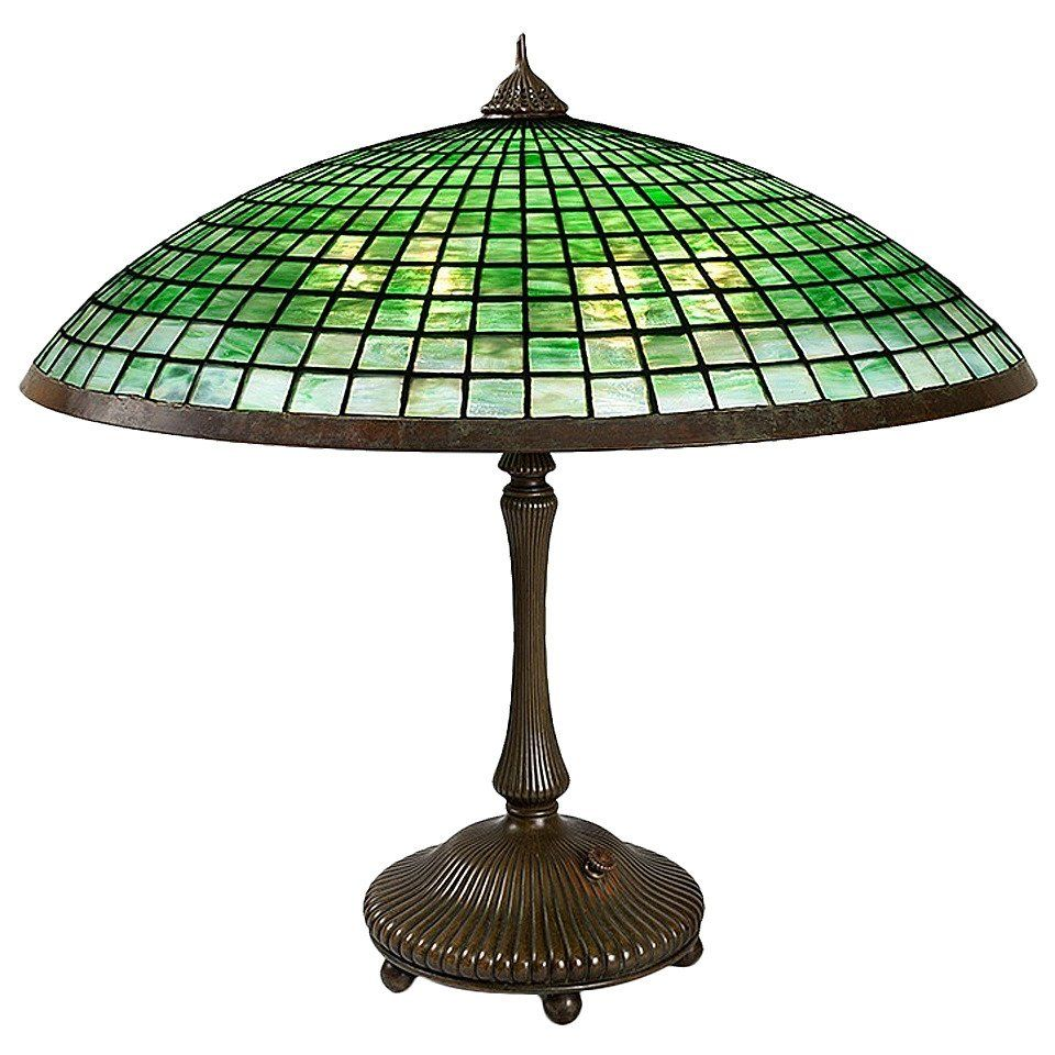"""Tiffany Studios New York """"Parasol"""" Table Lamp 