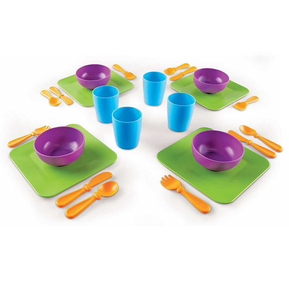 Toys for kids kitchen set  New Sprouts Serve It My Very Own Dish Set by Learning Resources