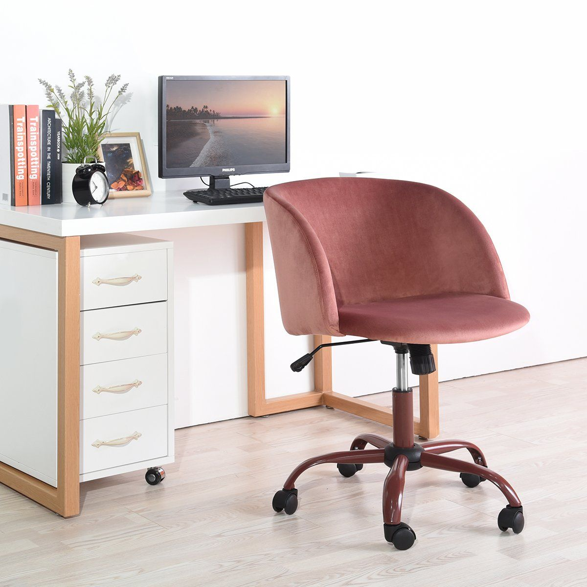 Eggree Midback Swivel Computer Desk Chair Ergonomic Modern Accent