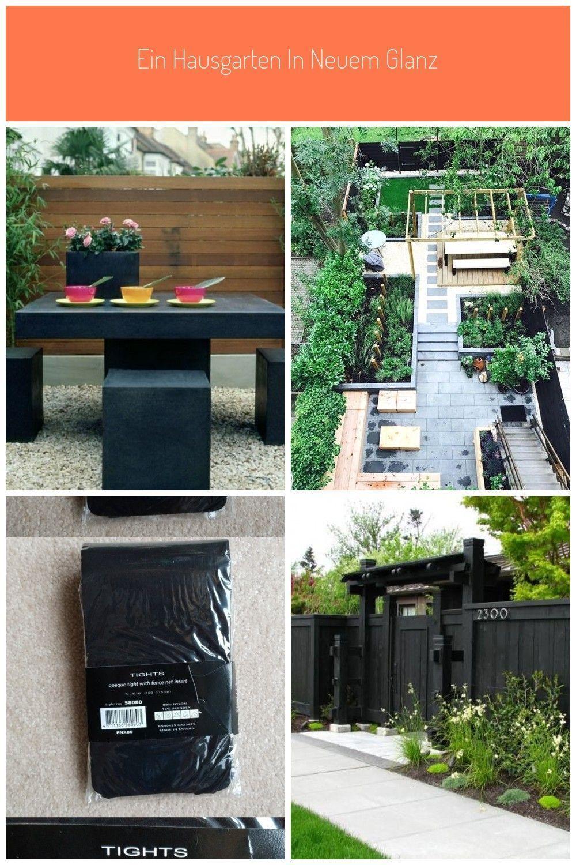 Kleingarten Anlegen Schwarze Mobel Bambus Sichtschutz Zaun