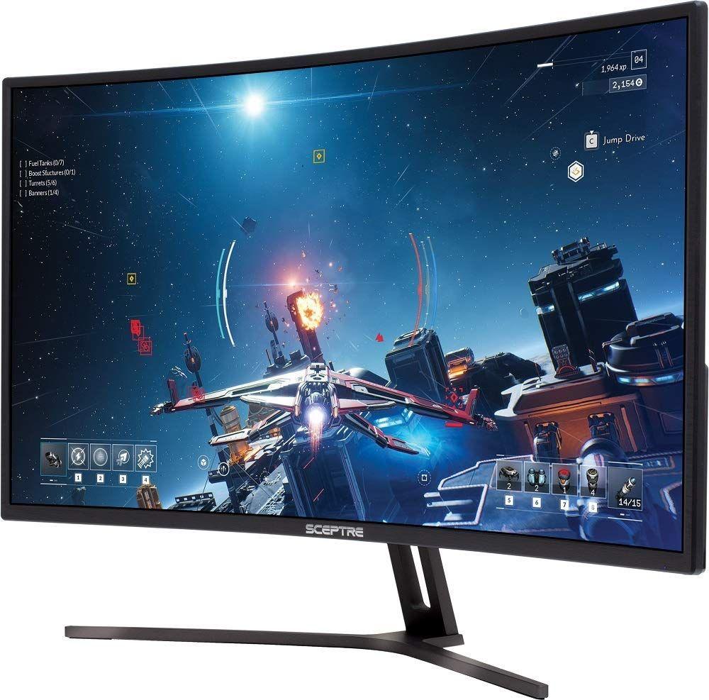 Sceptre 27 4K UHD IPS LED Monitor up to 70Hz DIsplayPort HDMI DVI Build-in Speakers Frameless Machine Black 2020 U279W-4000R