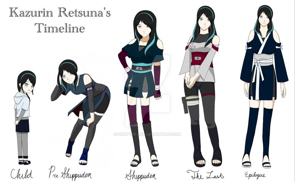 Naruto oc kazurins timeline by shatterend on