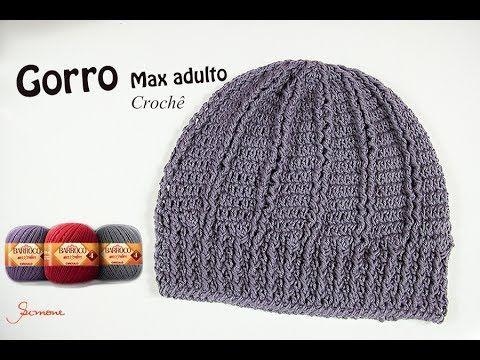 Gorro Touca de Crochê Max Adulto - Professora Simone Eleotério - YouTube 144e0b1c260
