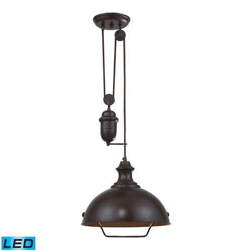 Elk Lighting Chadwick Oil Rubbed Bronze 8 Inch One Light Pendant On SALE