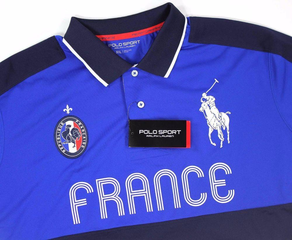 96ed8d99d28  136 NEW Ralph Lauren 2XL Polo Sport Big Pony France Blue  3 Shirt Men s  XXL  PoloSport  PoloRugby