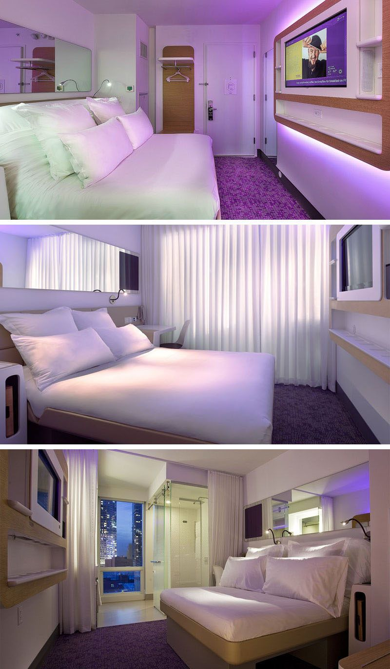 8 Small Hotel Rooms That Maximize Their Tiny Space Small Hotel Room Hotel Room Interior Small Hotel
