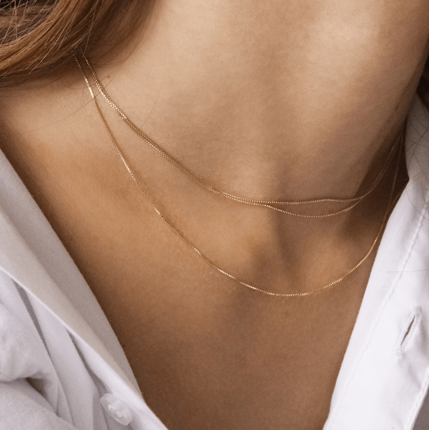 Jules Chain14k White Gold 24 In 2021 Delicate Gold Necklace Minimalist Earrings Gold Gold Diamond Necklace