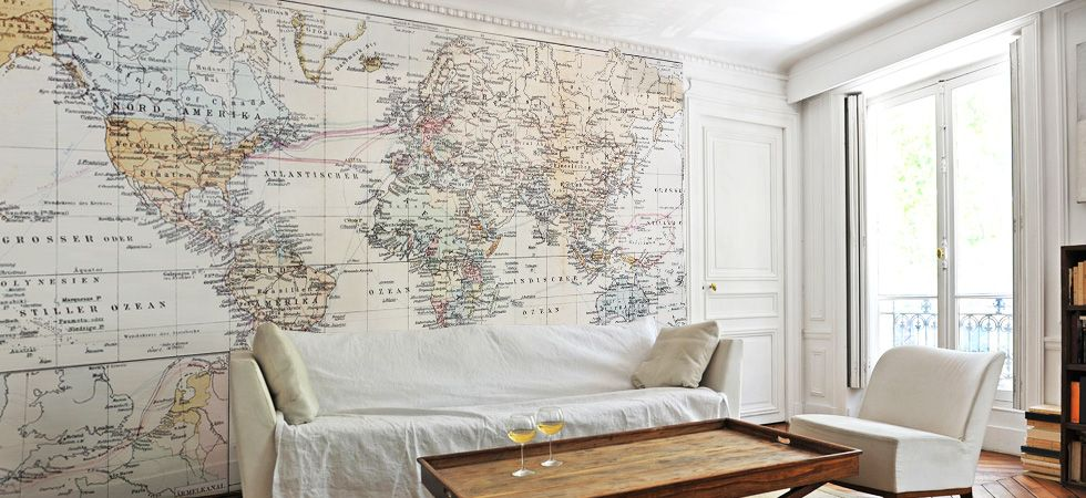 Maps Wall Murals Maps Removable Wallpaper Eazywallz Home