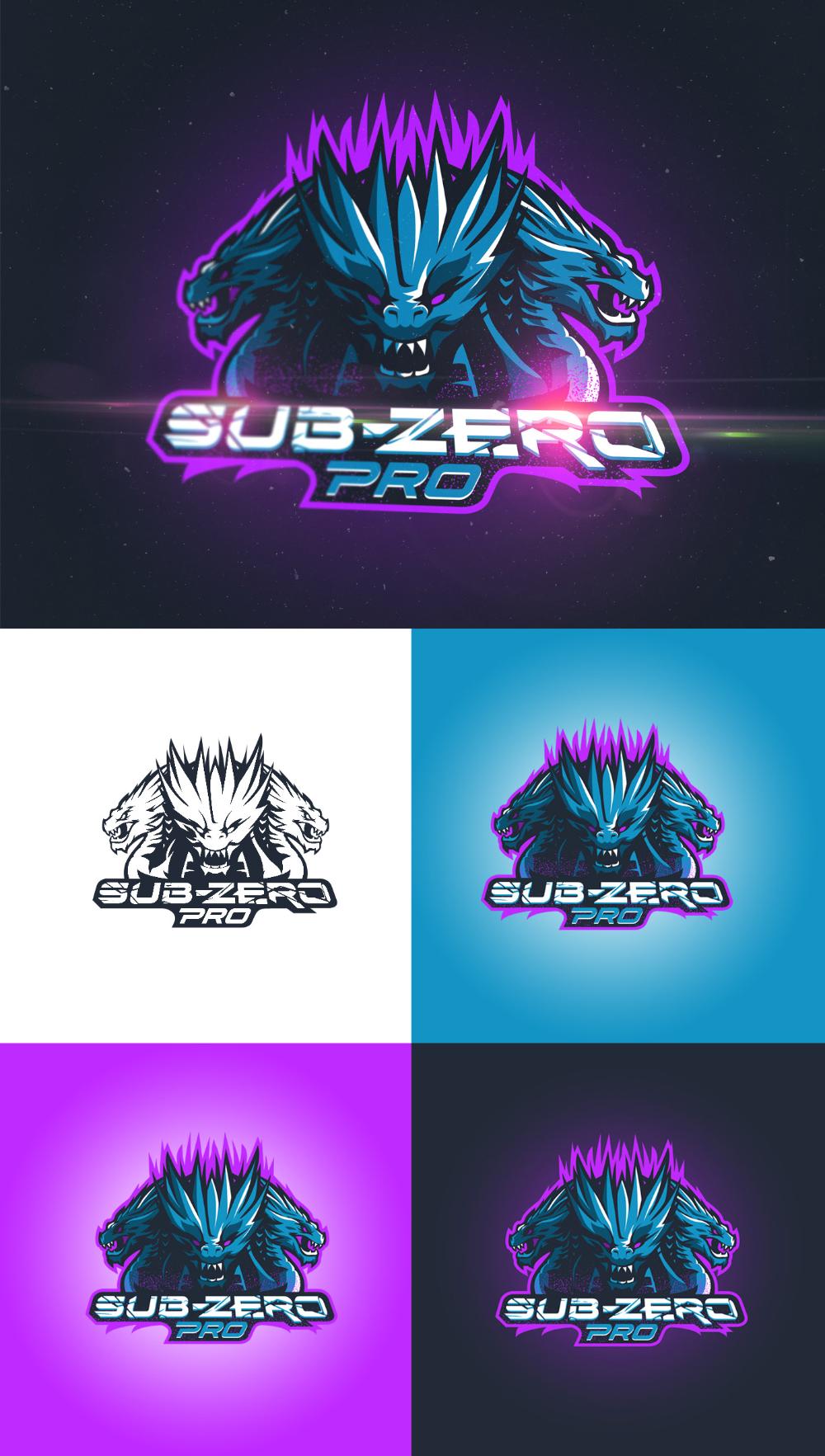 Sub Zero Pro On Behance Game Logo Game Logo Design Animal Logo
