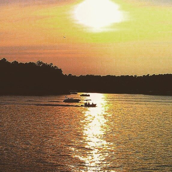 The only thing better than watching a sunset is watching a sunset at #thousandtrails | : Lake Gaston #campground | #100DaysofCamping #getoutandcamp