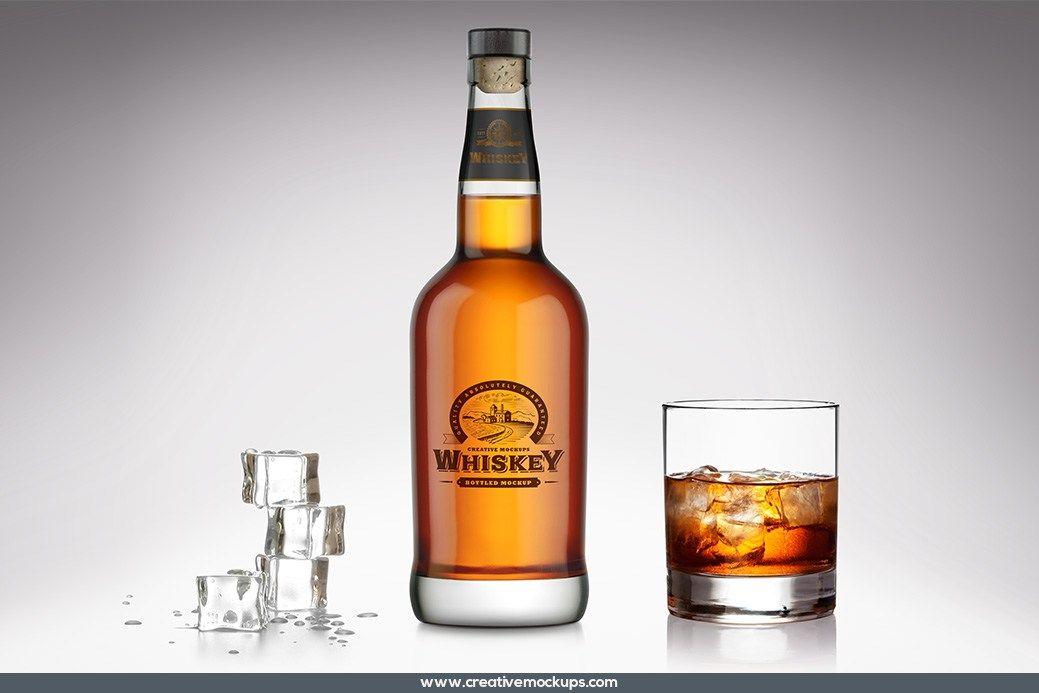 Account Suspended Bottle Mockup Bottle Whisky Bottle