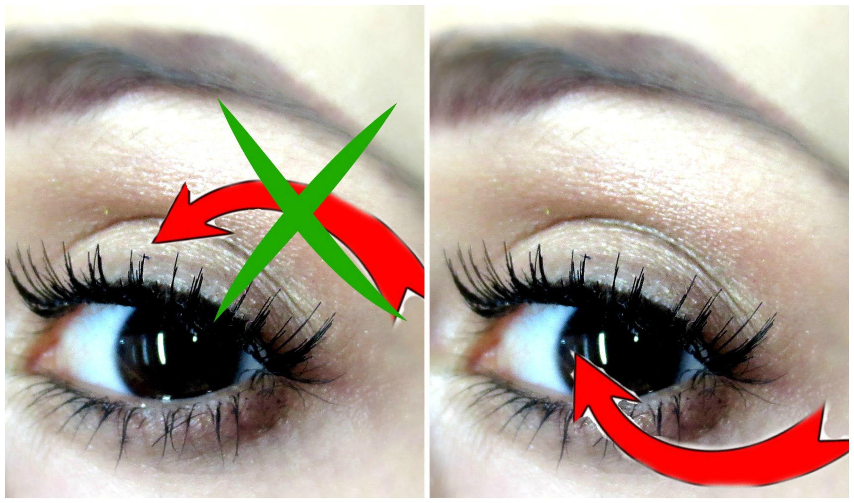 Applying false eyelashes UNDERNEATH your natural lashes