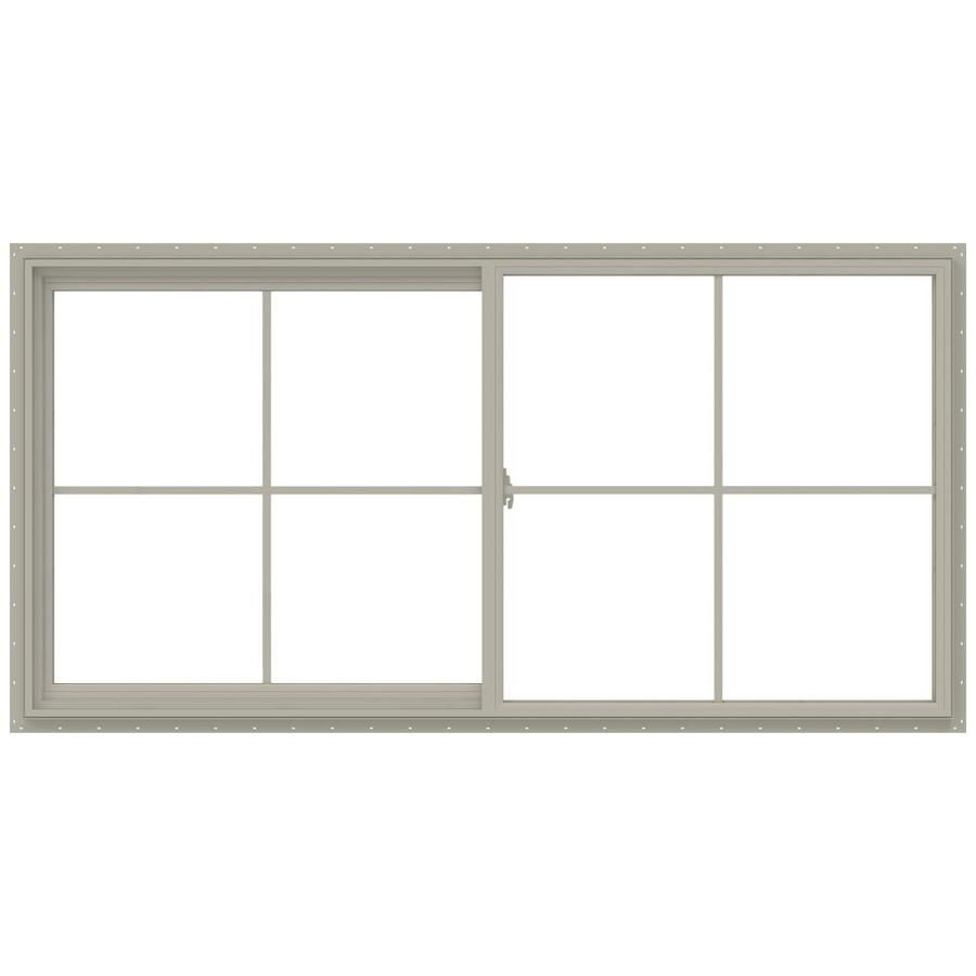Jeld Wen V 2500 47 5 In X 23 5 In X 2 9065 In Jamb Between The Glass Left Operable Vinyl New Construction Desert Sand Sliding Window Lowes Com Sliding Windows New Construction Jeld Wen