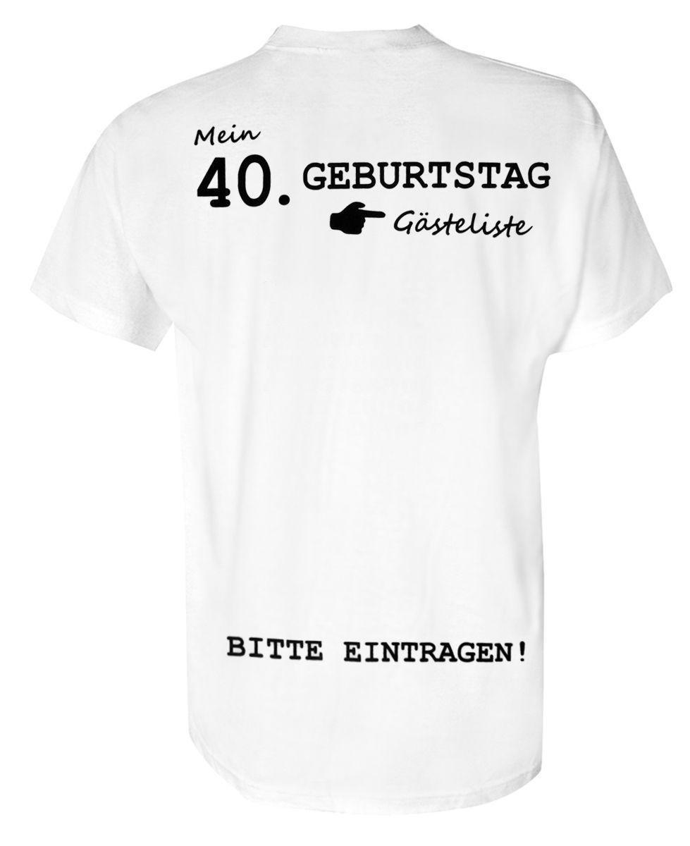 Geburtstag T-Shirt Party GÄSTEBUCH 50 Jahre Geschenk Idee lustig witzig 50