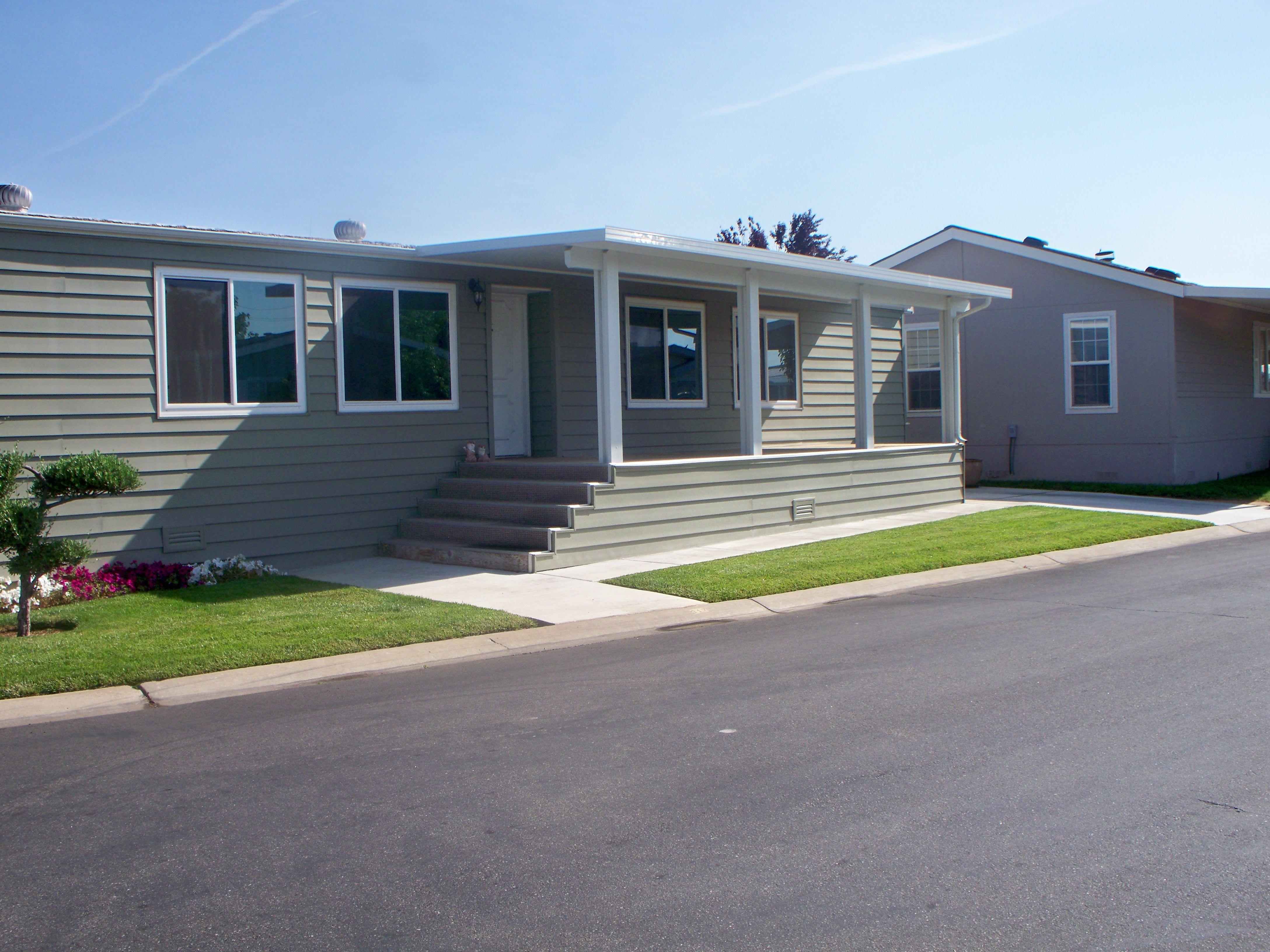 Mobile Home Remodel. Like the Front Asphalt Steps. Used Siding to ...