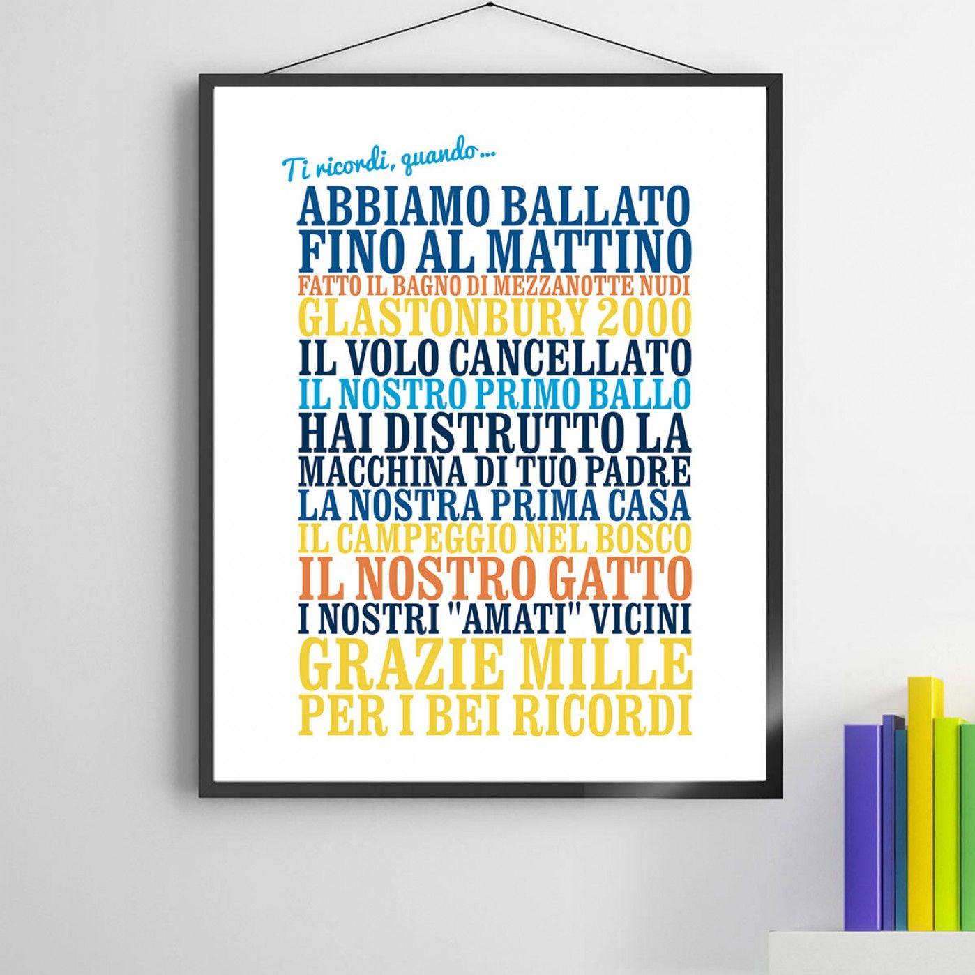 """Poster personalizzato """"Ti ricordi quando..."""" http://www.design-miss.com/poster-personalizzato-ti-ricordi-quando/ I #ricordi più belli in un #poster personalizzato da regalare ad una persona speciale!"""